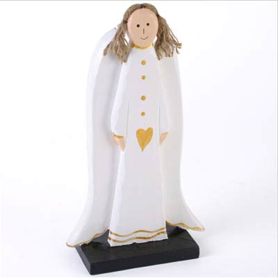 Standing Wooden Angels. (approx 27cm) Price includes FREE UK P&P ...