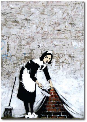 Camden Maid - Banksy Greeting Card