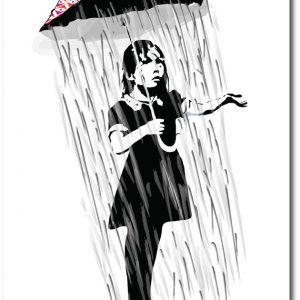 Umbrella Girl - Banksy Greeting Card