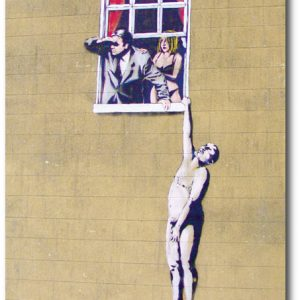 Banksy Greeting Card - Hanging-Man