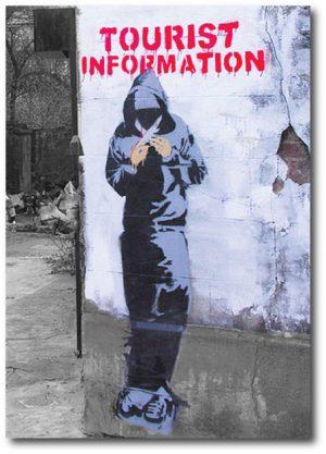Banksy Greeting Card - Tourist Information