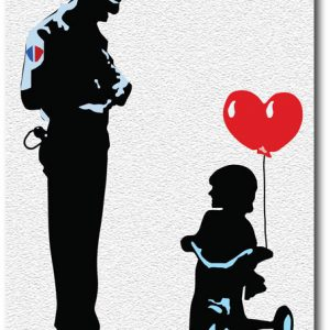 Tricycle Cop - Banksy Greeting Card