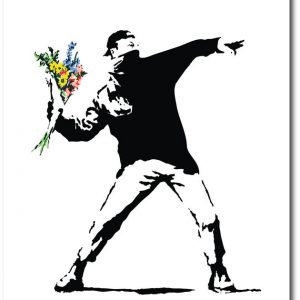 Flower Bomber - Banksy Greeting Card