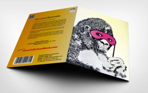 Gorilla Mask - Banksy Greeting Card with Badge 3D