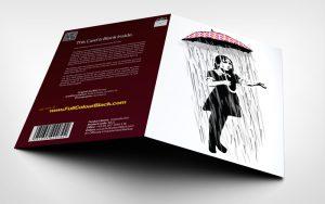 Umbrella Girl -Banksy Greeting Card - 3D shot