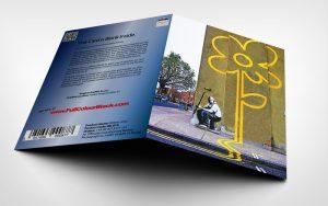 Yellow Lines - Banksy Greeting Card - 3D shot