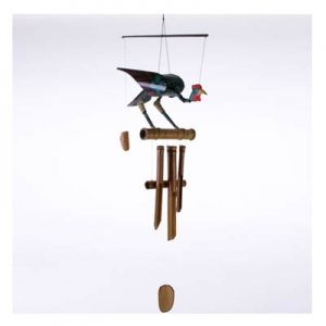 Hanging Bamboo Wind Chime – The Cheeky Coq Rooster – 102 cm Tall