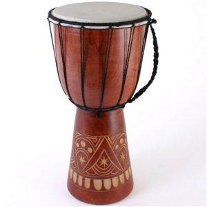 Hand-carved-bongo-drum