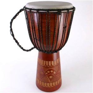 Hand carved bongo drum 60