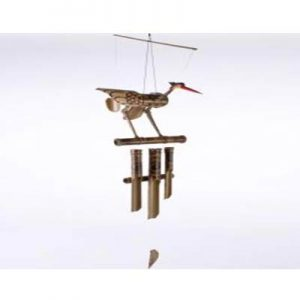 Hanging Bamboo Wind Chime – Bird LARGE – 105 cm Tall.