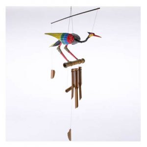 Hanging Bamboo Wind Chime – Colourful Bird