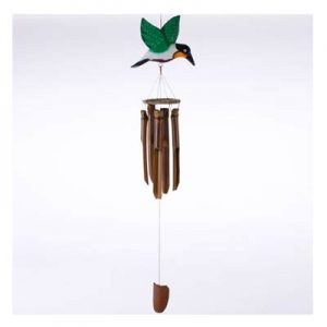 Hanging Bamboo Wind Chime – Hummingbird – 80 cm Tall.