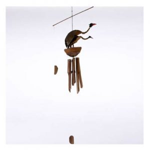 Hanging Bamboo Wind Chime - Pair of Birds - 120 cm Tall