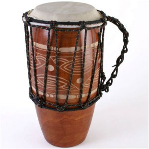 Carved Lap Bongo Drum