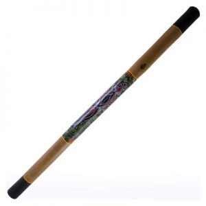 Hand painted bamboo didgeridoo