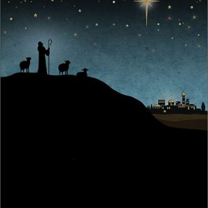 shepherd - christmas card - ferailles.co.uk