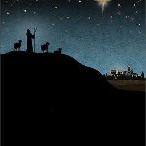 shepherd - christmas card - ferailles.co.uk