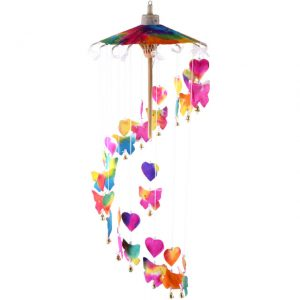 Butterfly & Hearts Mobile. Pretty and colourful. Lovely piece