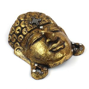 Gold Buddha Face Mask - Wall Decoration
