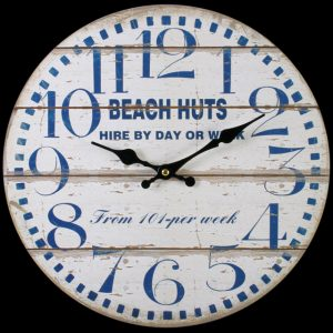 Beach Huts Clock. ferailles.co.uk