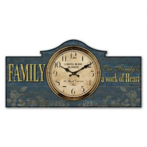 Family work of heart clock. ferailles.co.uk