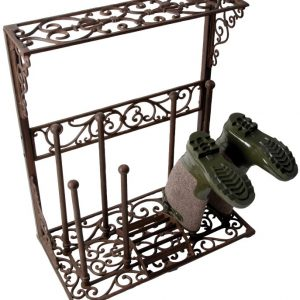 Cast Iron Boot Rack. Holds 4 pairs