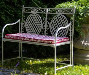 Metal work - Cafe Range 2 Seater Garden Conservatory Home Bench