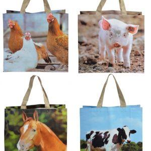 Re-usable Farm Animal Shopping Bags