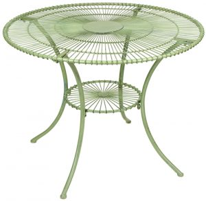 Stylish Metal Garden Antibe Pale Green 1 Metre Round Table