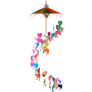 Elephants & Hearts Colurful Saa Mobile Chime - 70cm