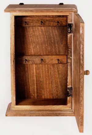 Heart Design - Key Box Cabinet - White Wash - Inner View