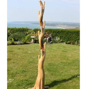 Single Teak Root TREE Stand. Coat Rack