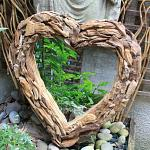 Teak Root Forest Heart Mirror - Small 65x65cm