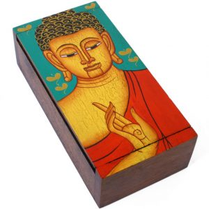 Handpainted Buddha Box Trinket Chests
