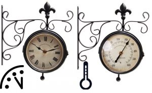 Garden Clock And Thermometer