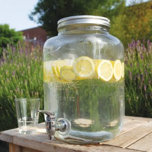 Glass Jar Juice Dispenser. Outside 1