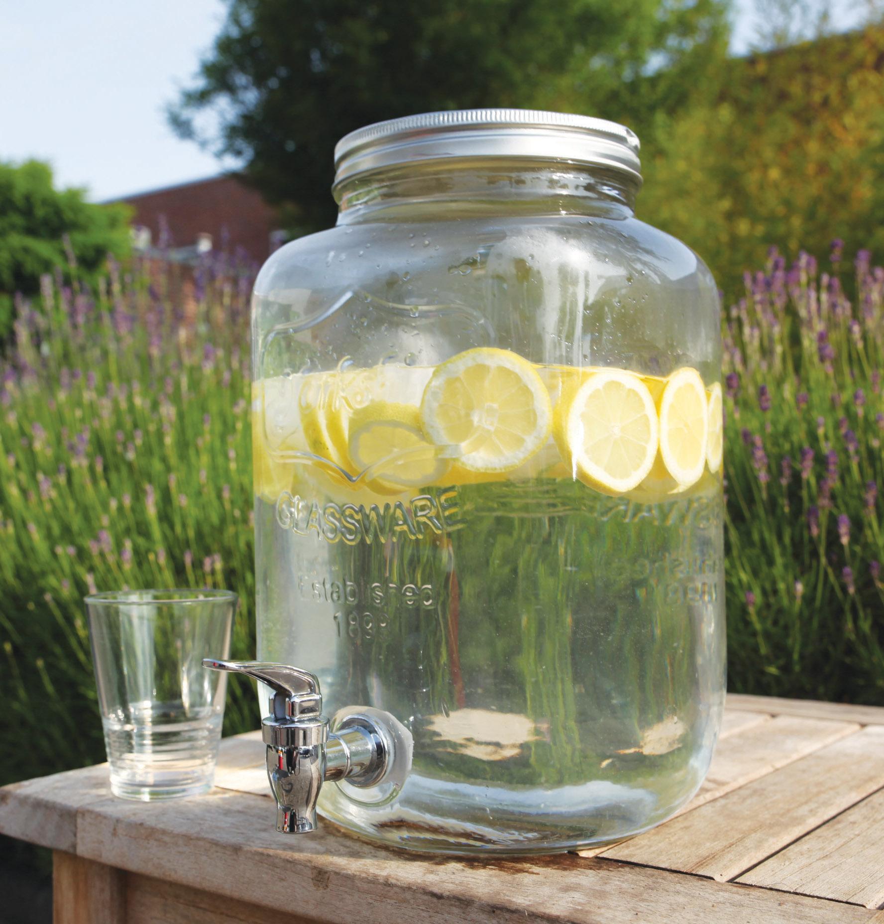 Glass Jar Juice Dispenser Ferailles