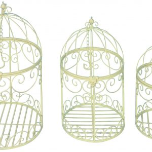 Set of 3. Metalware Decorative Hanging Bird Cages