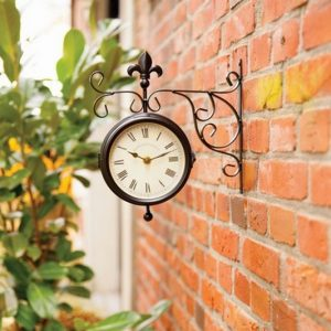 Wall Hanging Garden Clock & Thermometer