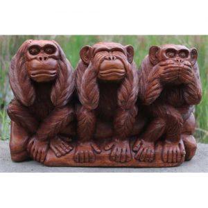 3 Wise Wooden Monkeys
