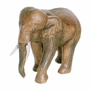Standing Walking Elephant 27cm Large