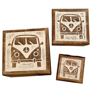Set of 3 VW camper boxes