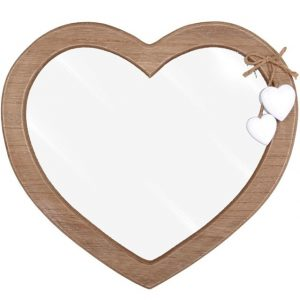 Heart Mirror With Decorative White Wooden Hearts