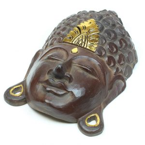 Buddha Head Mask - gold leaf decoration spot