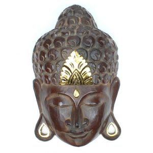 28cm traditional buddha face mask with gold leaf head spot tradition decoration