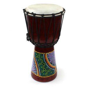 Djembe Drum - mid size 40cm handpainted