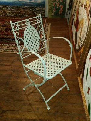 Folding Armchair - Left to Right Front View