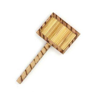 Kenyan Wooden Stick Kyamba Shaker - underneath