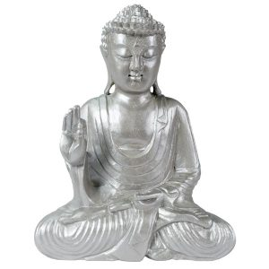 solid-wooden-contemporary-silver-sitting-buddha-30cm