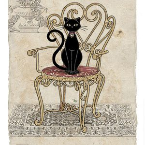 chair-cat-greeting-card